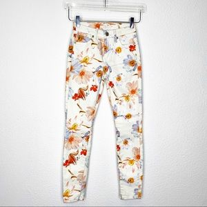 NWOT 7 For All Mankind Floral Skinny Jeans